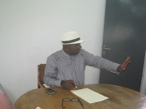 Dr. Chris Oghenechovwen, Delta State Commissioner for Water Resources at the premises of the Warri/Effurun Water Supply Project