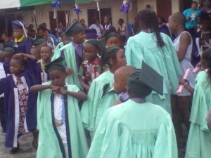 Young graduands of Emmakes Schools dancing during the 2013 Graduation/Prize-Giving Day Celebration