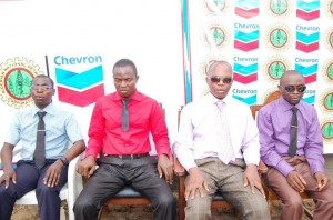 The blind students (L-R) Idowu Philip; Emmanuel Sylvanus; Felix Lodio and Gabriel Godwin