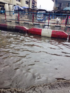This is how the new Eherhen Junction looks like whenever it rains