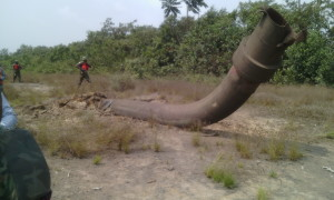 One of pipelines blown up by suspected militants