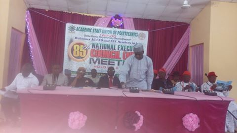 ASUP National President, Comr. Dutse Yusuf Usman delivering his opening speech.
